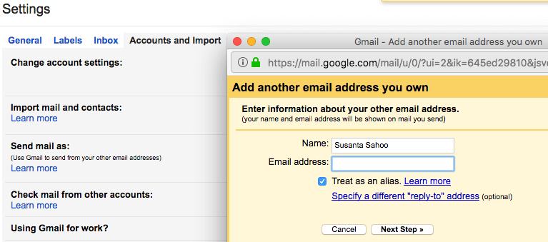 how to set up free custom email address