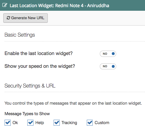 Configure Location Widget in SpotWalla