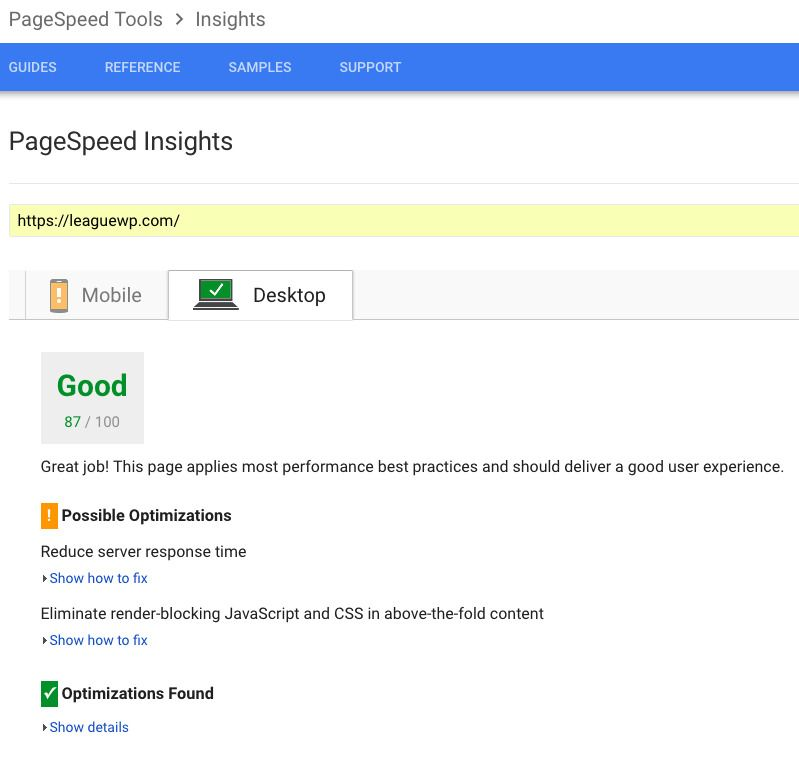 Page Speed Insights_After
