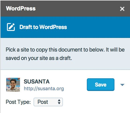 WordPress Add-on for Google Docs